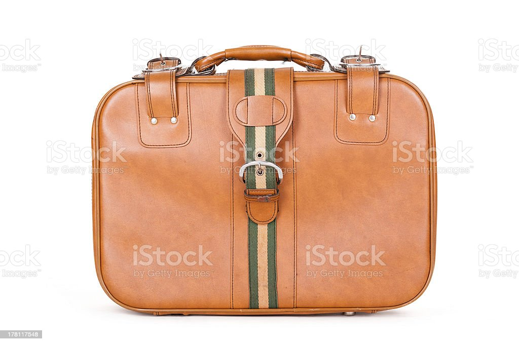 Old fashioned leather suitcase royalty-free stock photo