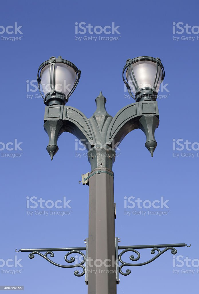 Old Fashioned Light Post royalty-free stock photo