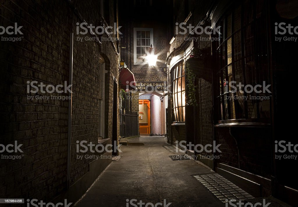 Old Fashioned London Alleyway stock photo