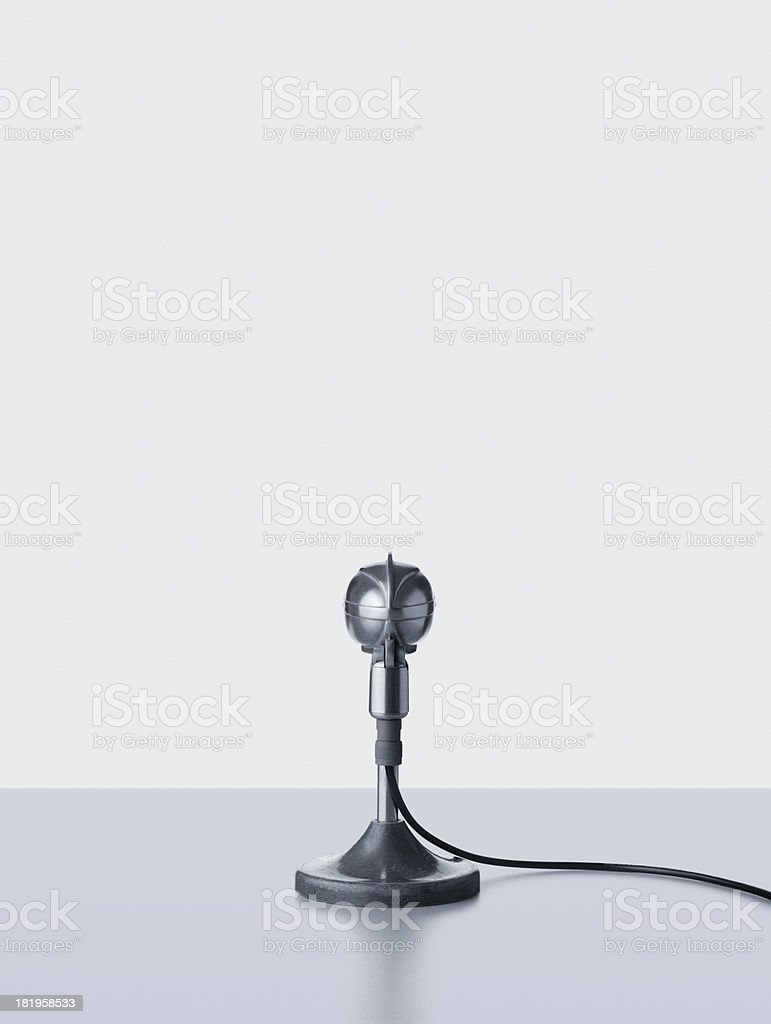 Old Fashioned Microphone royalty-free stock photo