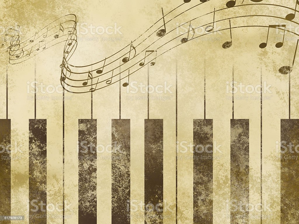 old fashioned music background stock photo