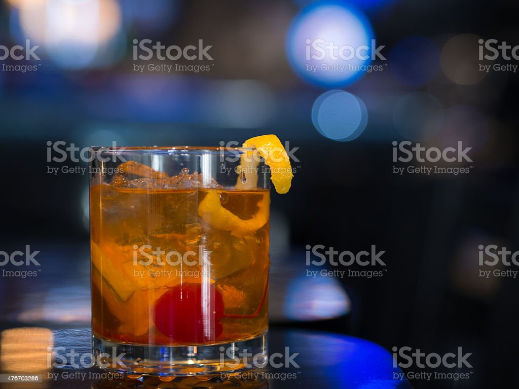 Old Fashioned on the Rocks stock photo
