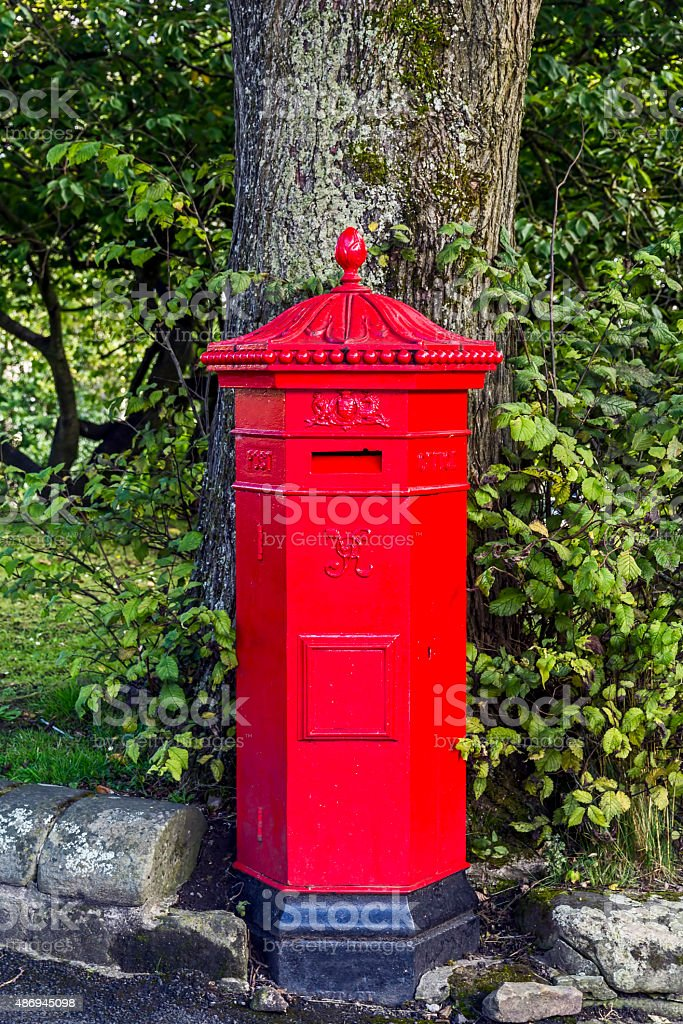 Old Fashioned Post Box stock photo