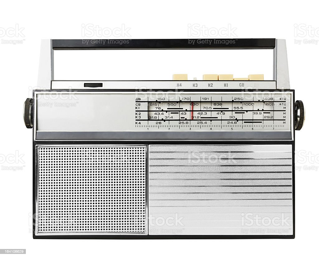 Old fashioned radio royalty-free stock photo