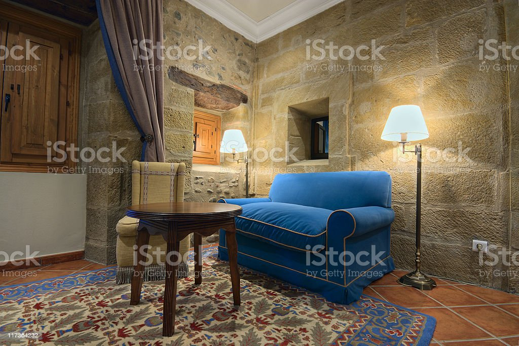 Old fashioned room setting royalty-free stock photo