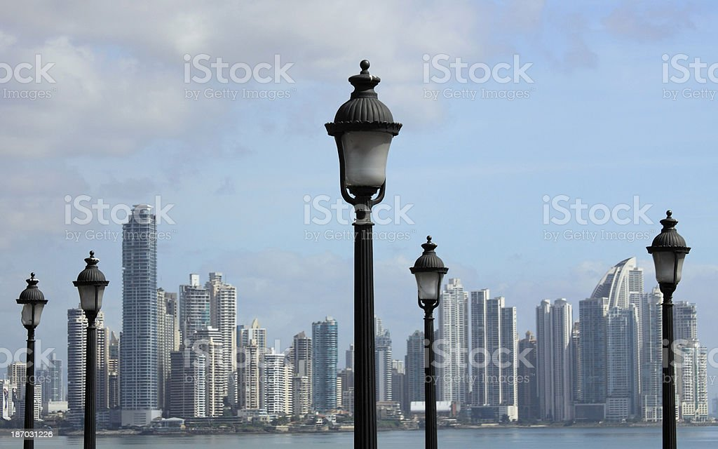 Old fashioned street lamps royalty-free stock photo