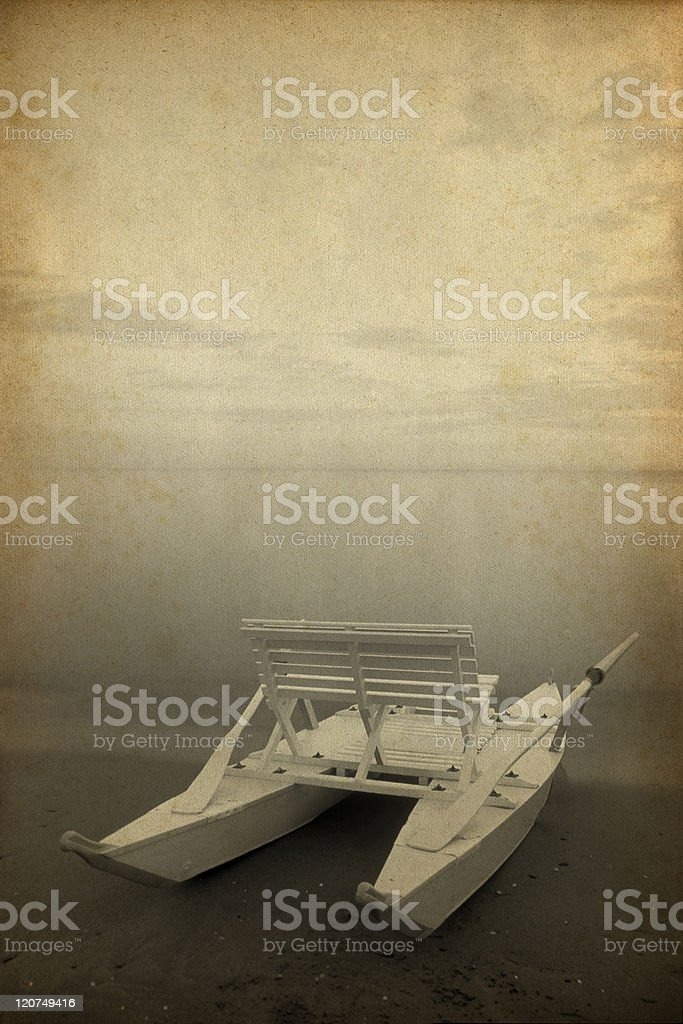 Old Fashioned Style Picture of a  Classic Italian Rowing Boat . royalty-free stock photo