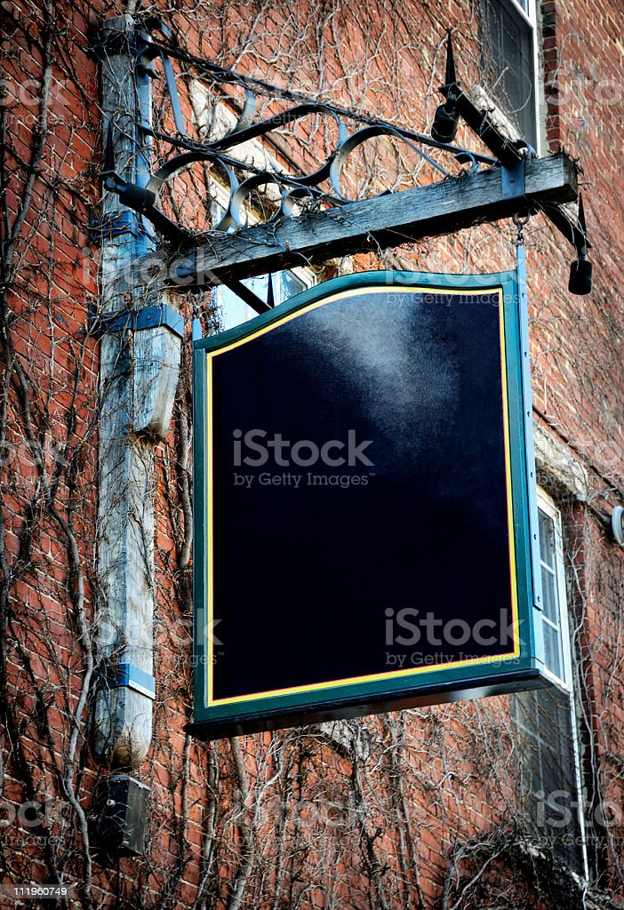 Old Fashioned Swing Sign (Blank) royalty-free stock photo