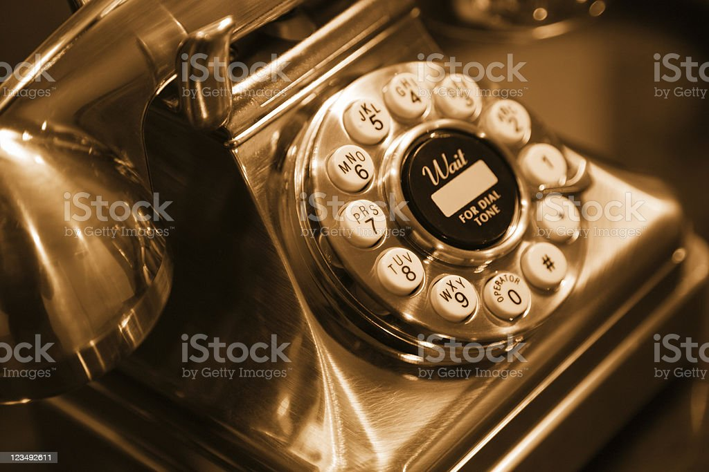 old fashioned telephone stock photo