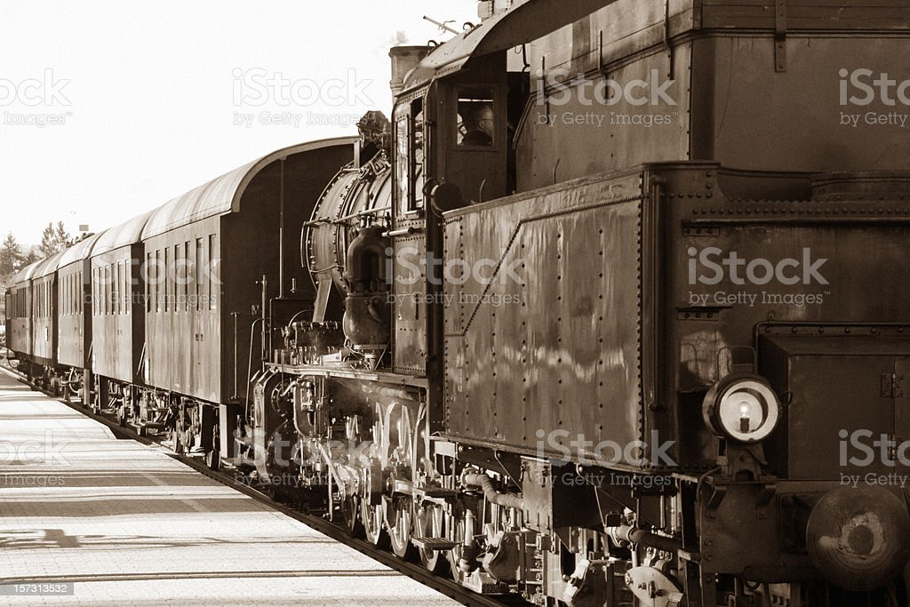 Old Fashioned Train stock photo