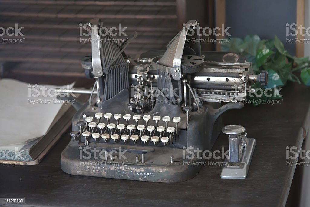 Old fashioned typewriter royalty-free stock photo