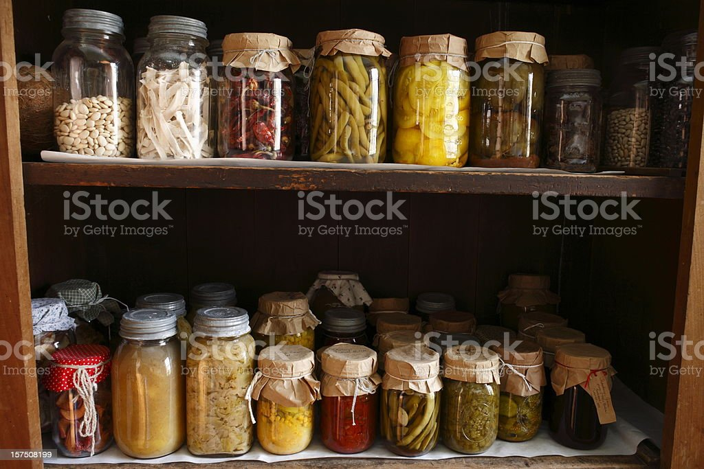 Old Fashioned Vegetable Pantry royalty-free stock photo