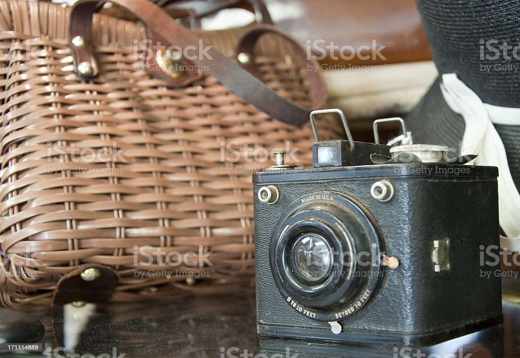 Old fashioned Vintage Camera royalty-free stock photo