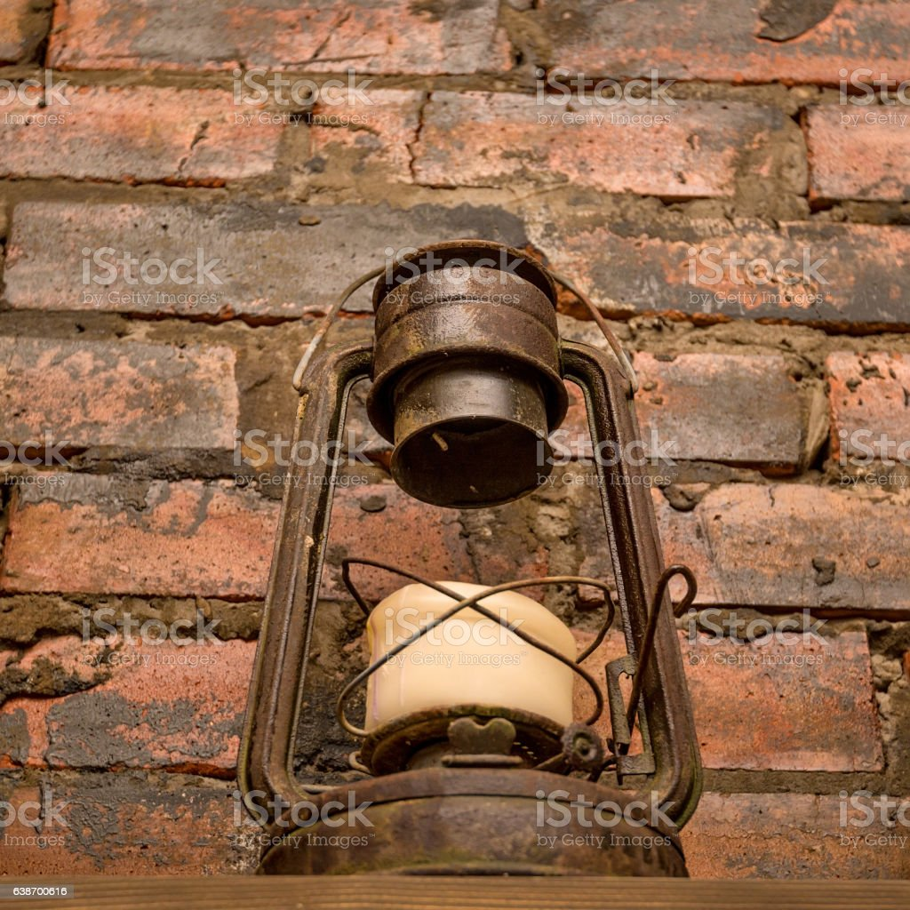 Old fashioned vintage lamp stock photo