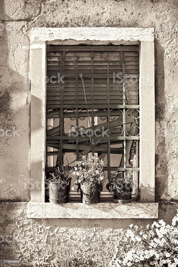 Old fashioned window royalty-free stock photo