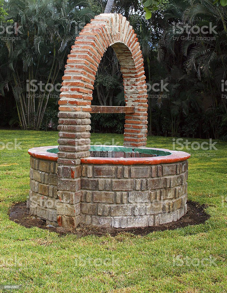 Old Fashioned Wishing Well: Make a Wish royalty-free stock photo
