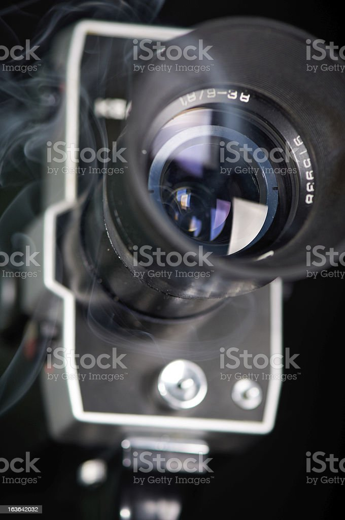 Old Fashoned Movie Camera stock photo