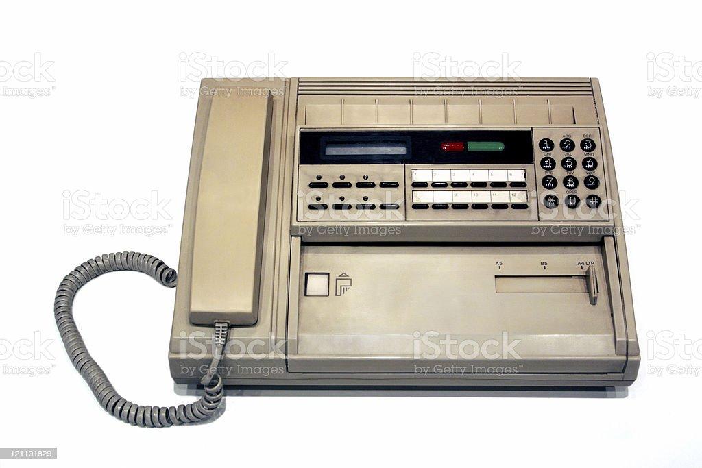 Old fax machine stock photo