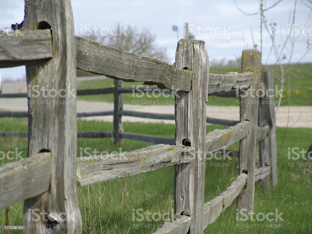 Old fence details royalty-free stock photo
