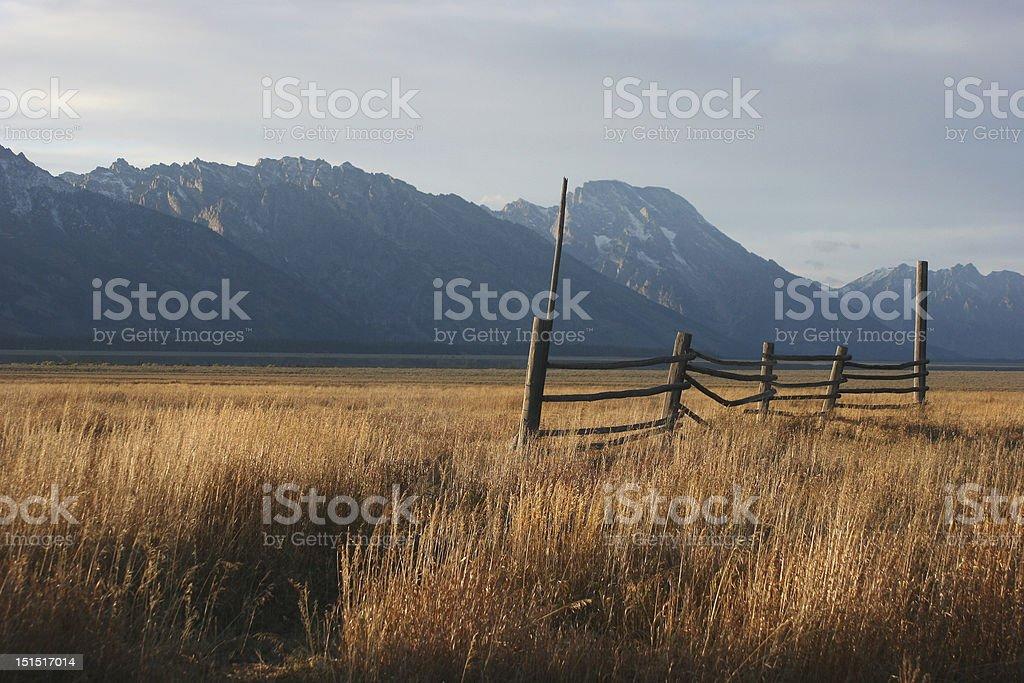 Old Fence  - Mormon Row royalty-free stock photo