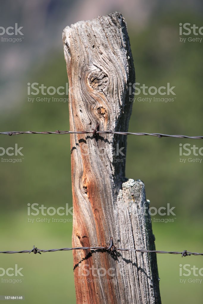 old fencepost royalty-free stock photo