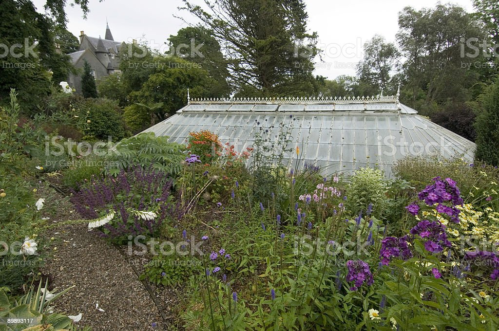 Old fernery and victoran house royalty-free stock photo