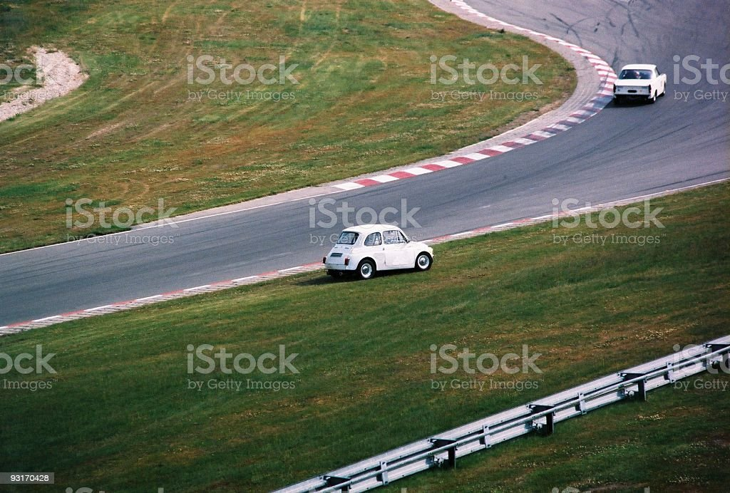 Old Fiat 500 in throuble royalty-free stock photo