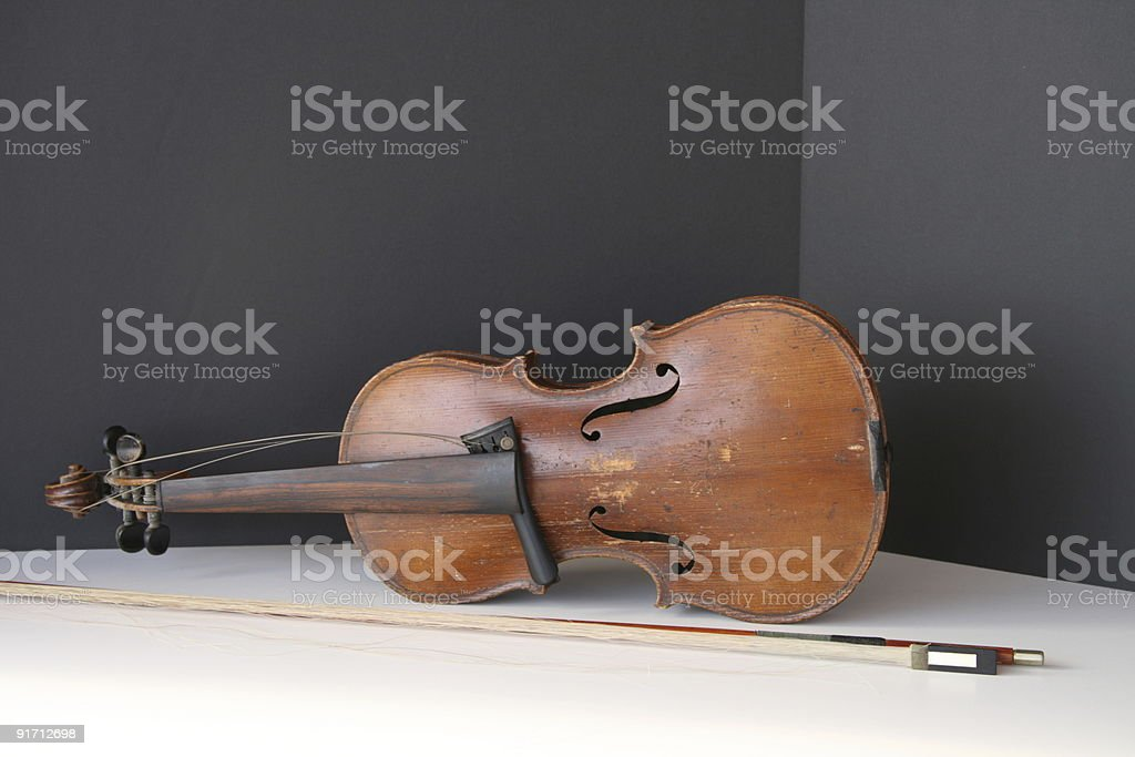 Old fiddle... stock photo