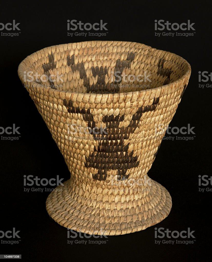 Old figural Papago tribal basket from southern Arizona stock photo