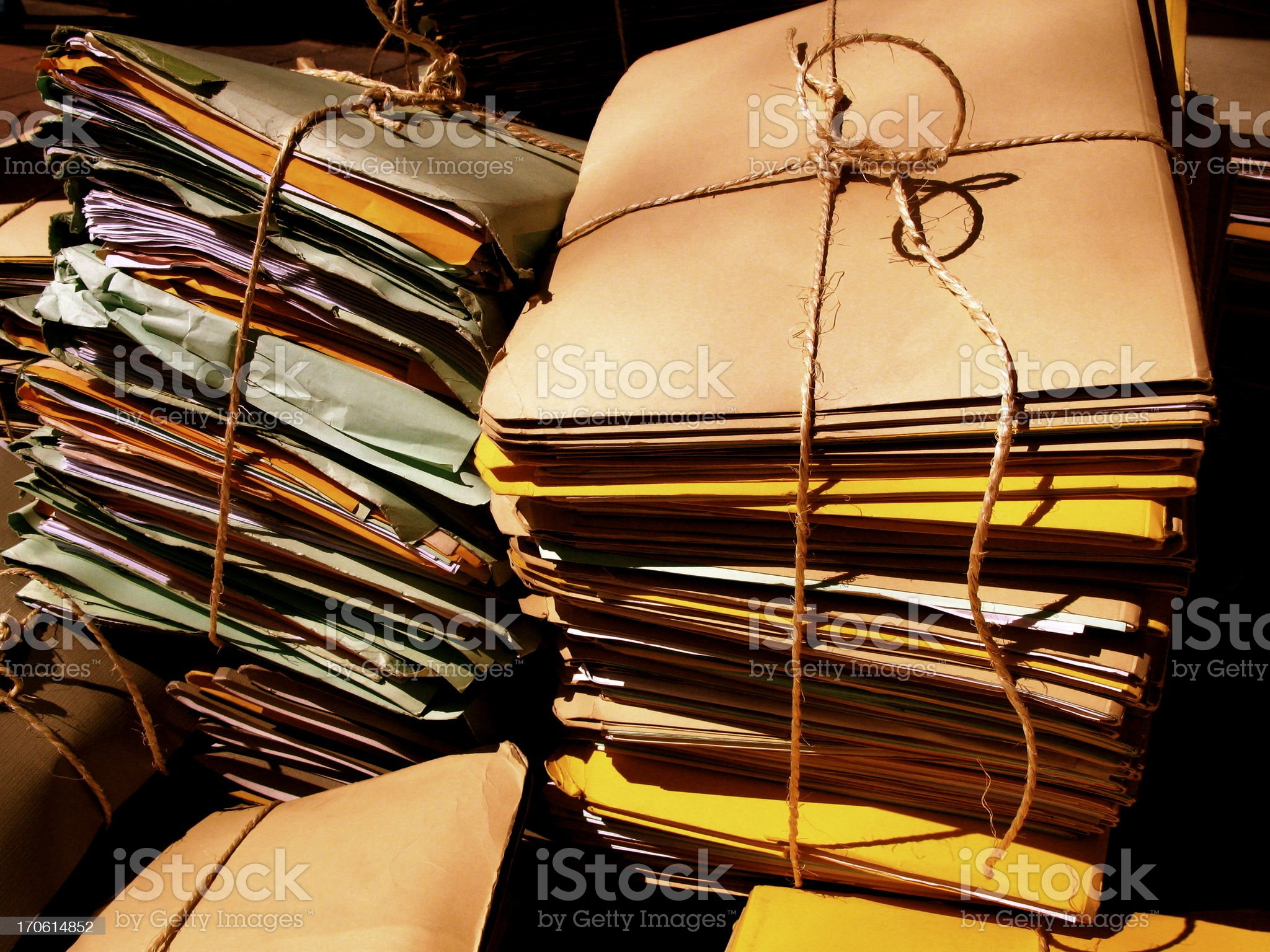 old files (pre-pc world) royalty-free stock photo