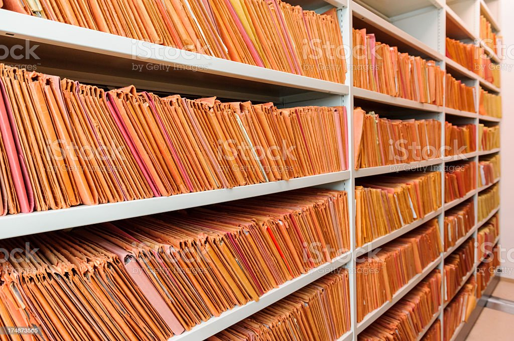 Old files royalty-free stock photo