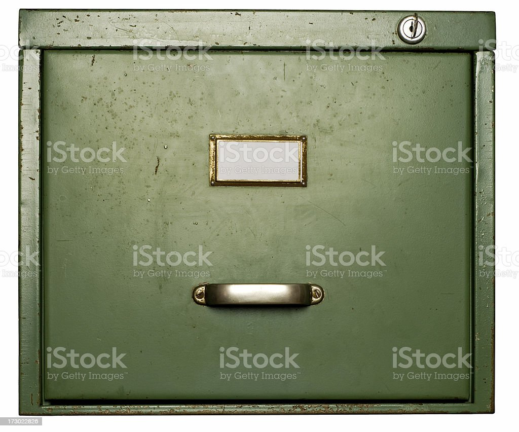 Old Filing Cabinet royalty-free stock photo
