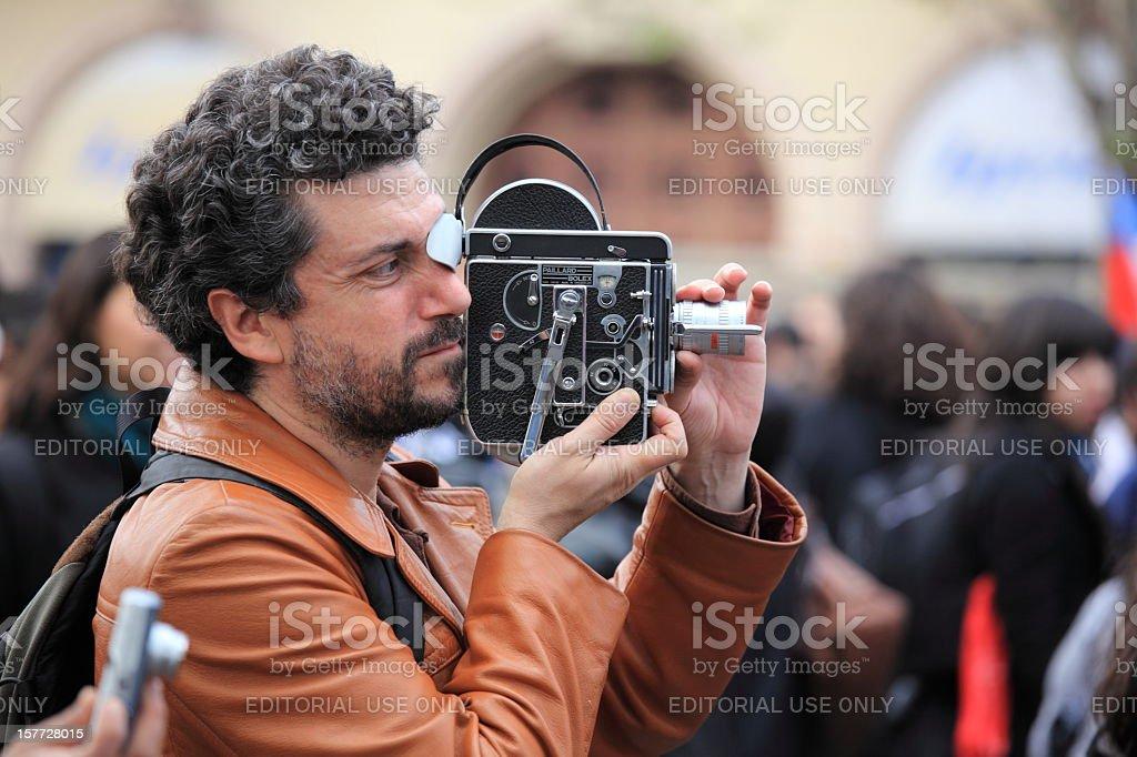 Old Film Camera Bolex stock photo