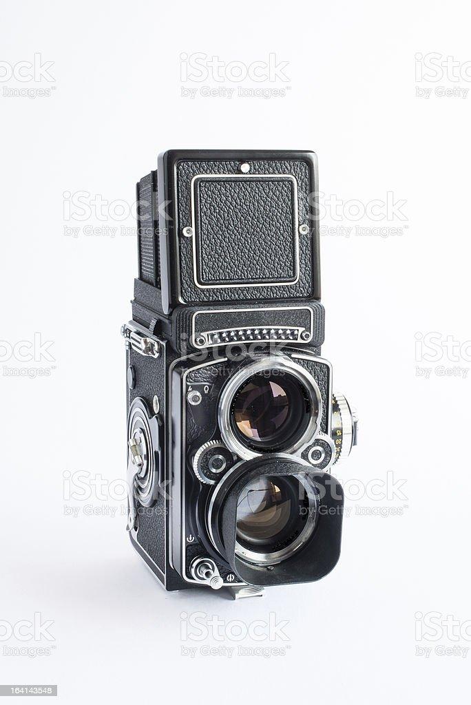 Old film camera stock photo