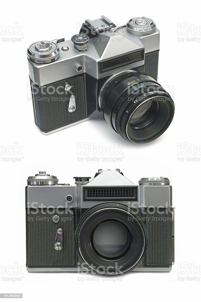 Old film camera royalty-free stock photo