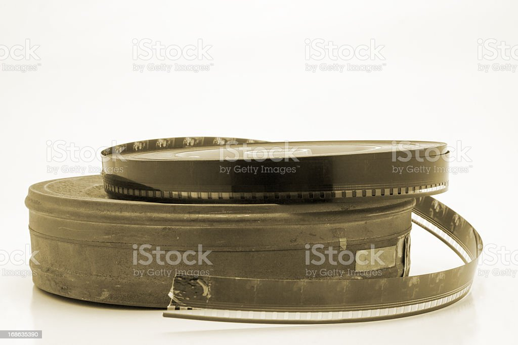 Old film can royalty-free stock photo
