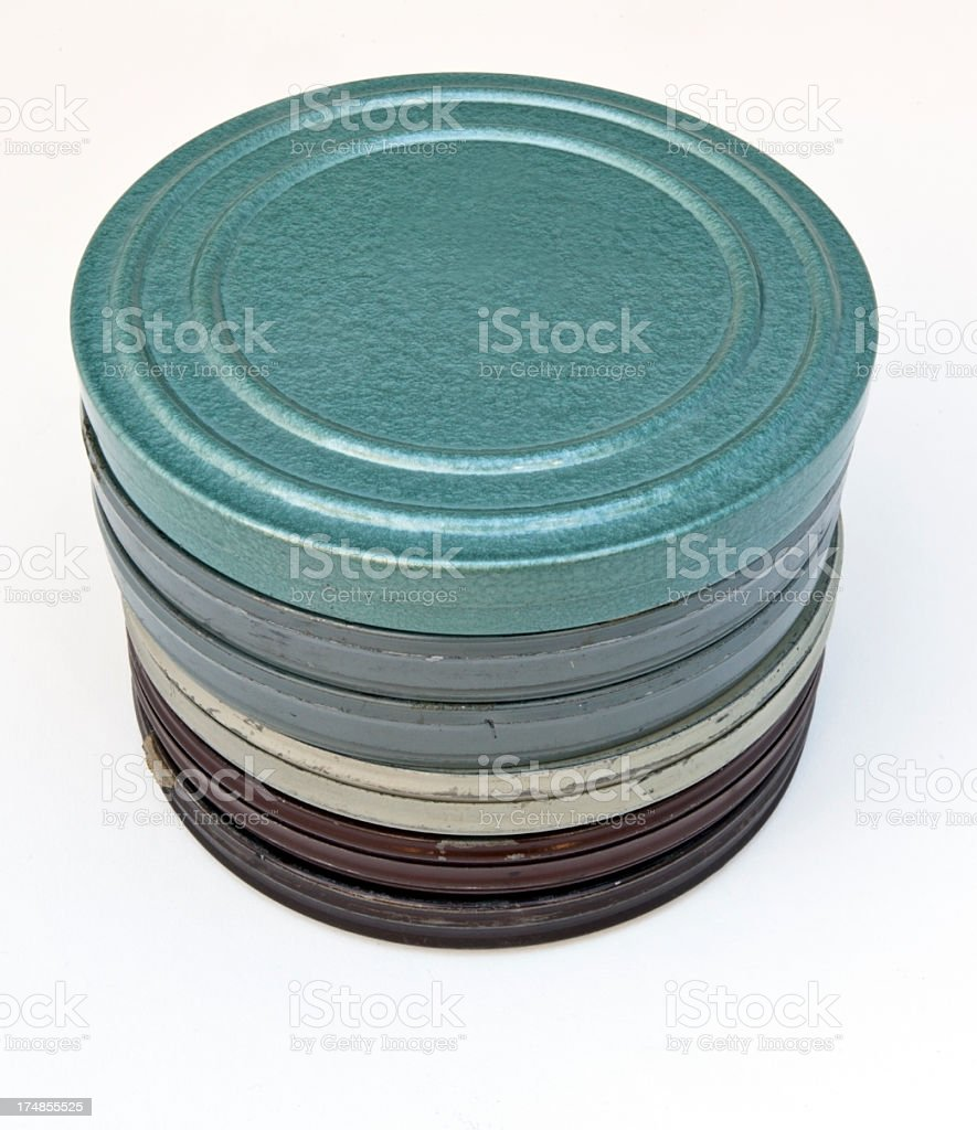 Old Film Canisters royalty-free stock photo