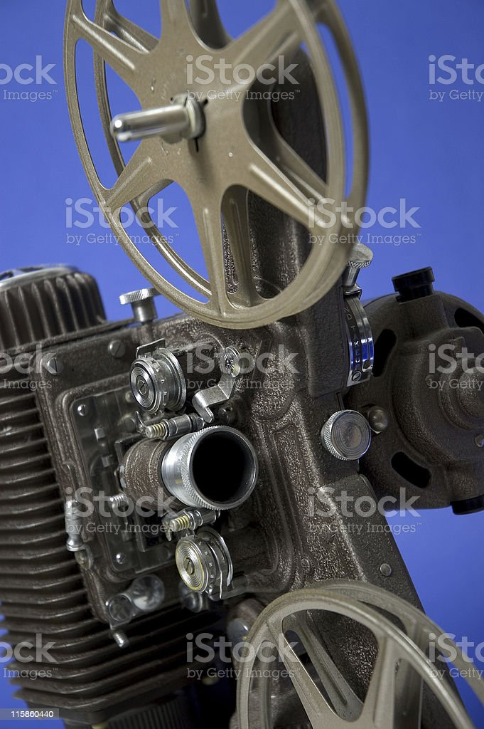Old Film Projector - Close Up royalty-free stock photo