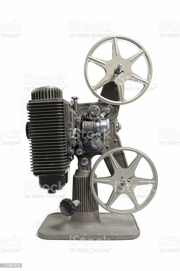 Old Film Projector - Side View royalty-free stock photo