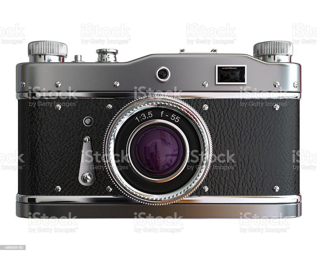 Old film rangefinder camera stock photo