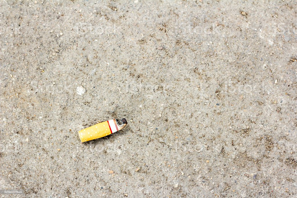 Old filter cigarette. stock photo
