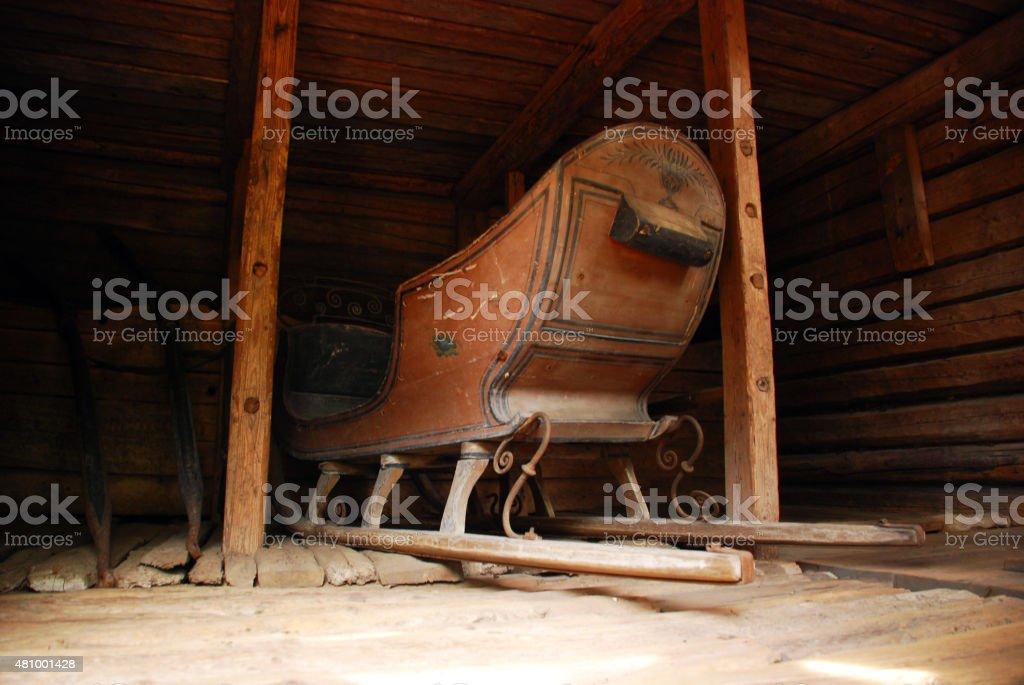 Old Finish sledge stock photo