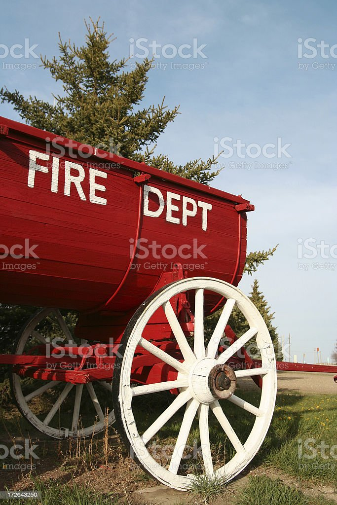 Old Fire Cart royalty-free stock photo