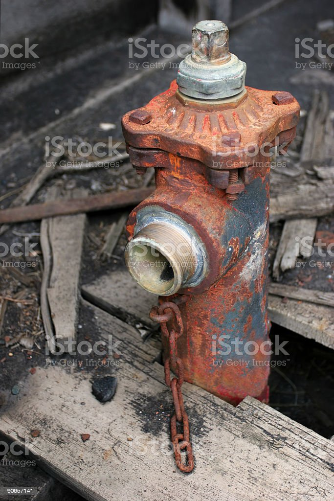 old fire hydrant royalty-free stock photo