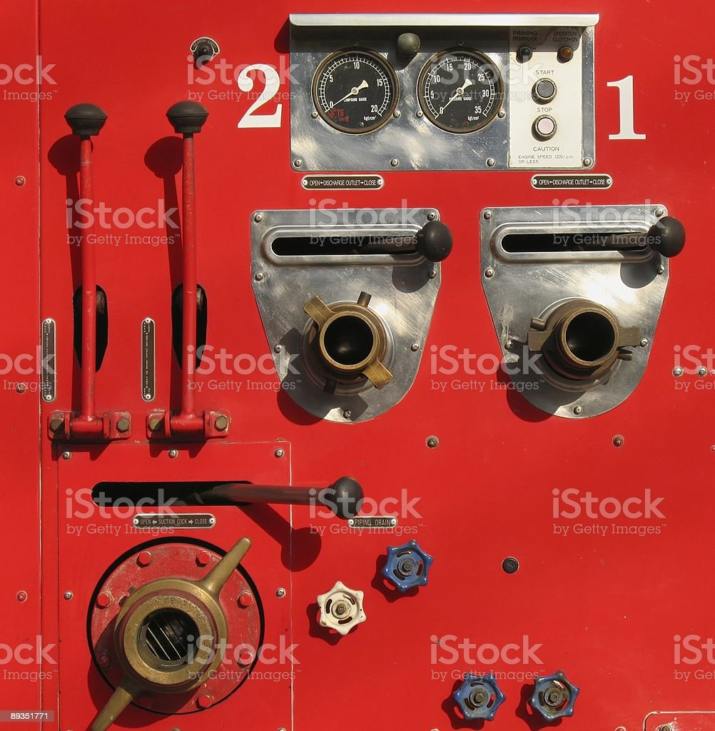 Old Fire Truck Detail royalty-free stock photo