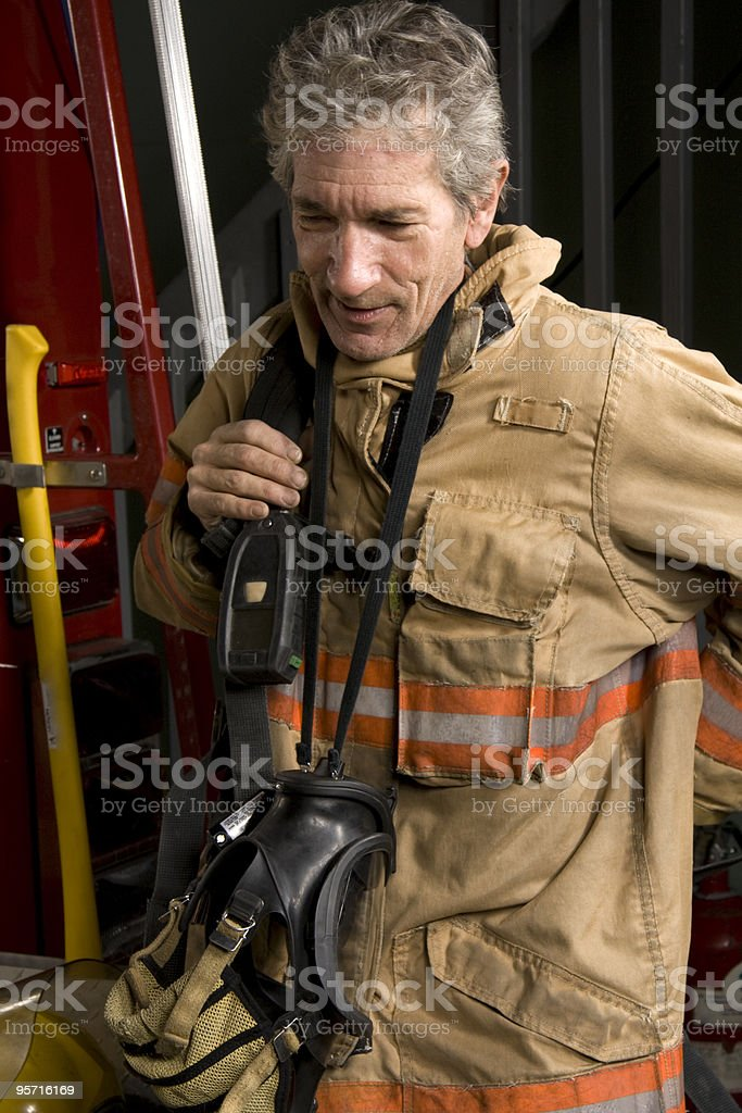 Old Firefighter clothing royalty-free stock photo
