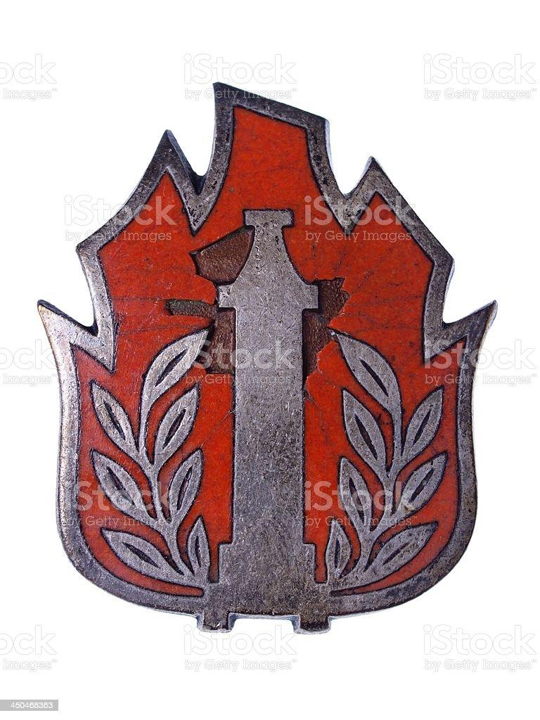 Old Fireman Badge royalty-free stock photo