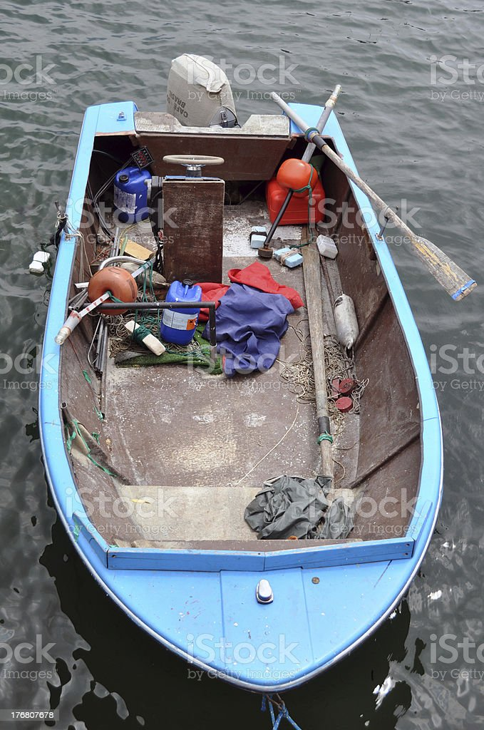 Old fisher boat royalty-free stock photo