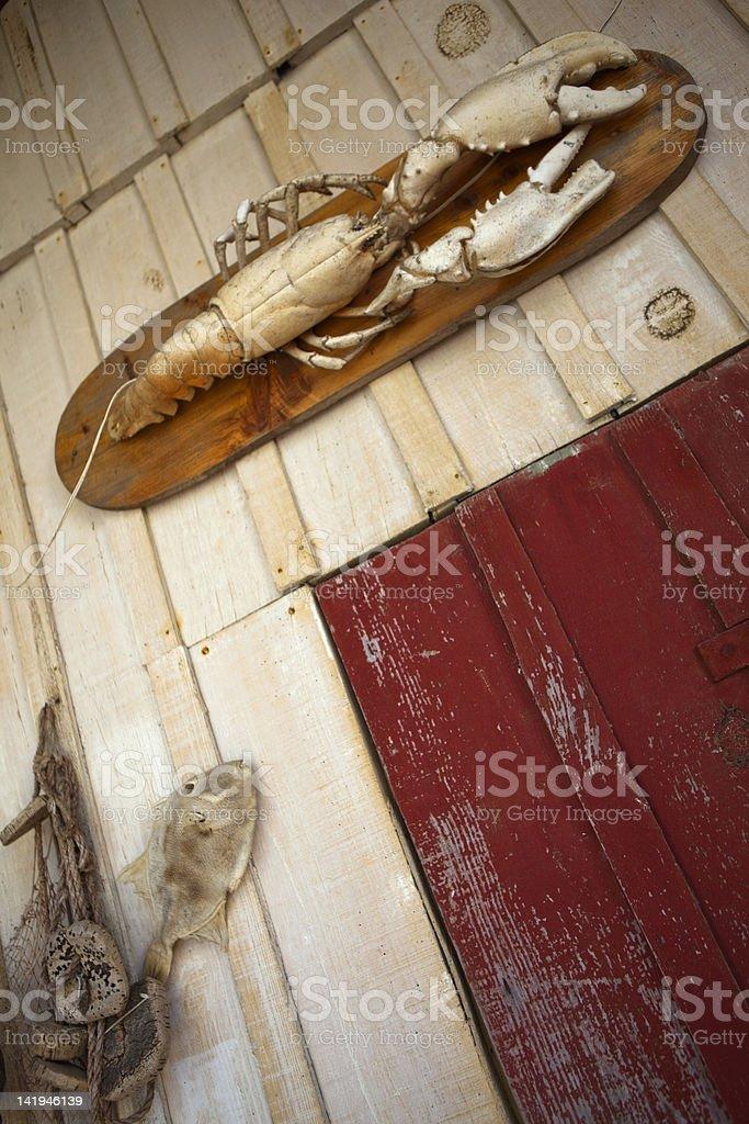 Old fisherman's hut stock photo