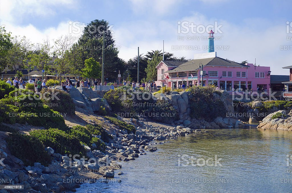 Old Fisherman's Wharf in Monterey, CA royalty-free stock photo